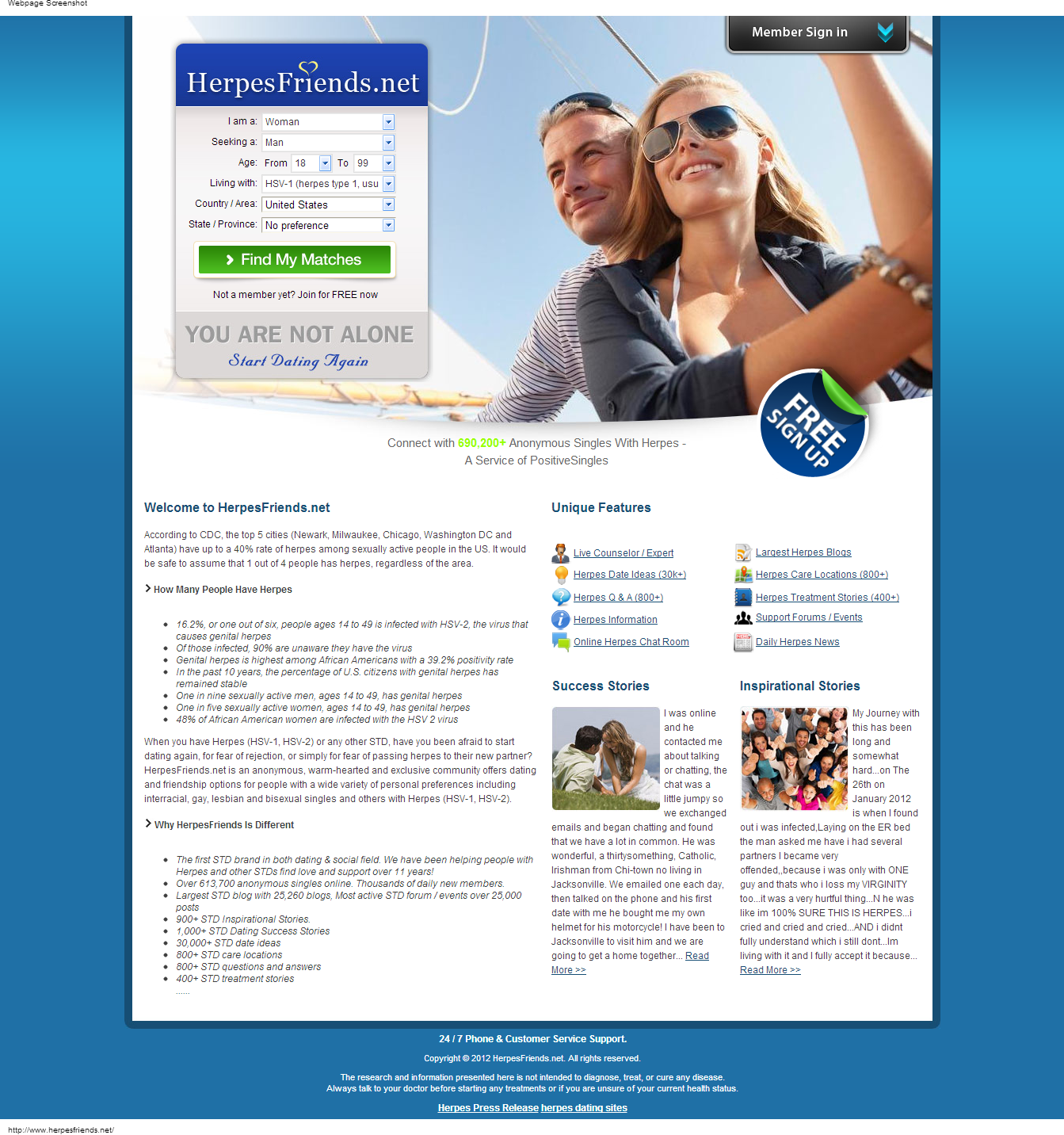 Completely free herpes dating site