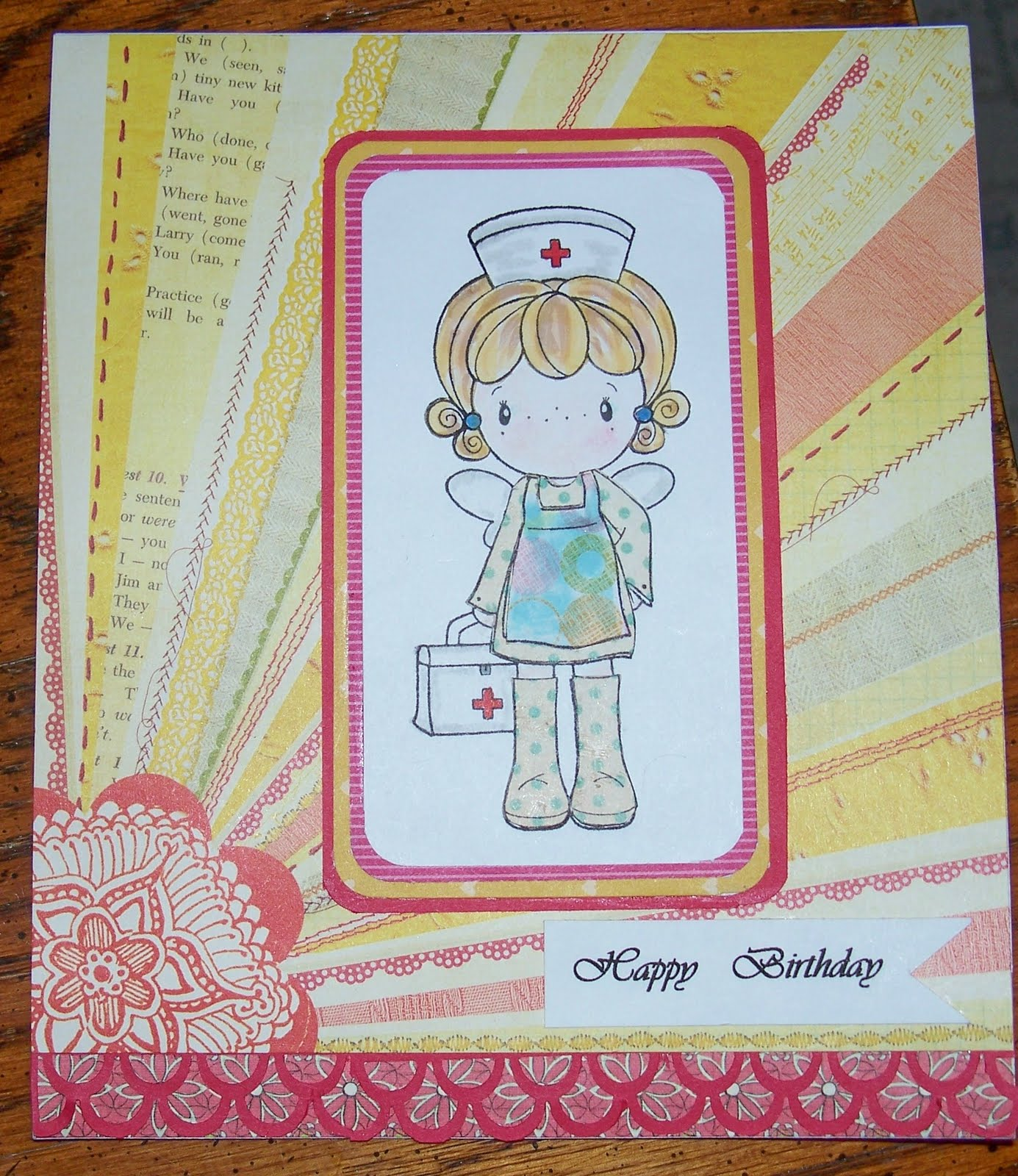 Treasures past n present happy little nurse birthday card bookmarktalkfo Images