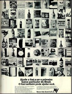 propaganda Banco Itaú - 1971.1971.  os anos 70; propaganda na década de 70; Brazil in the 70s, história anos 70; Oswaldo Hernandez;