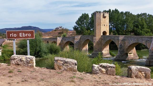 Puente medieval de Frías sobre el río Ebro