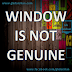 How to remove Window Genuine Error