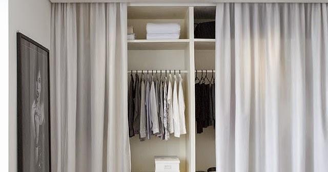 Blog de decora o arquitrecos cortinas nas portas de for Cortinas para puertas de armarios