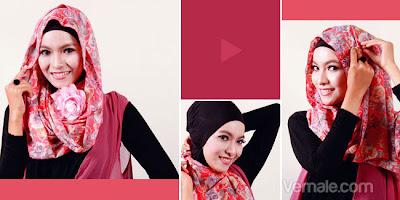 Cara Memakai Jilbab Pashmina Sederhana