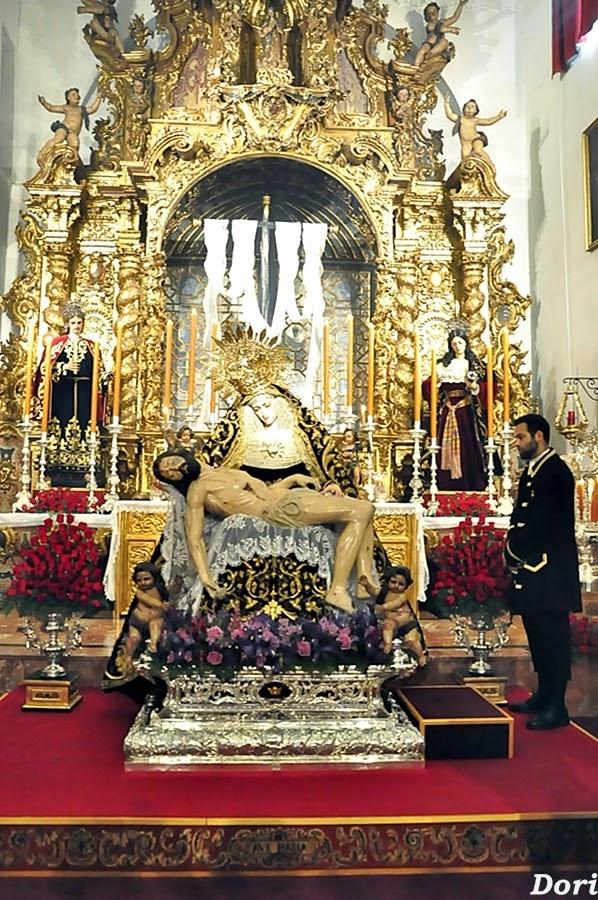 Besamanos a la Virgen  de los Dolores de los Servitas 2015