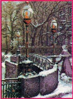 Вышивка бисером зима в Питере