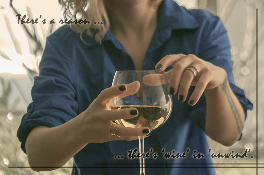 For Peet's Sake blog there's a reason there's wine in unwind