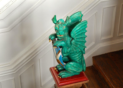 Dragon on the staircase banister