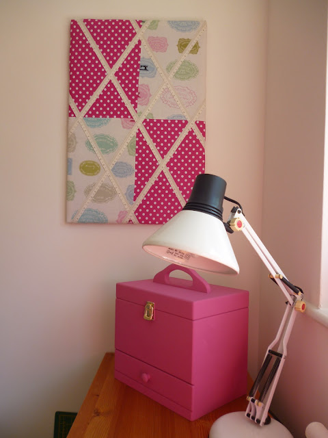 Upcycled Sewing Box - Bubblegum Pink