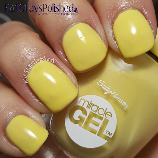 Sally Hansen Miracle Gel - Poolside Paradise - Morning Sunshine | Kat Stays Polished