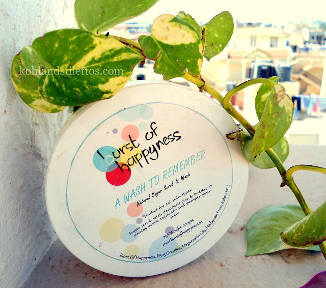 Burst of Happyness 'A Wash to Remember' Body Scrub Review, Price, Details