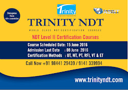 NDT Level II Certification Courses - June 2016