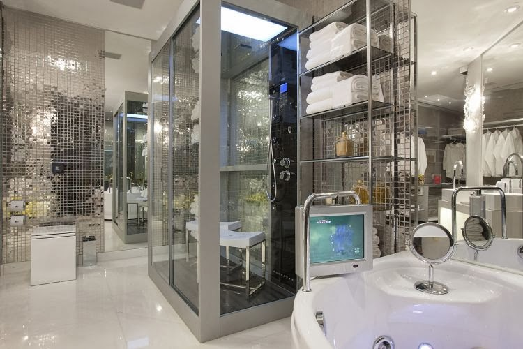 Banheiros com Banheiras! 30 Modelos maravilhosos!  DecorSalteado -> Banheiro Quadrado Banheira