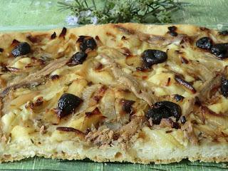 Pissaladière sans gluten ni lactose