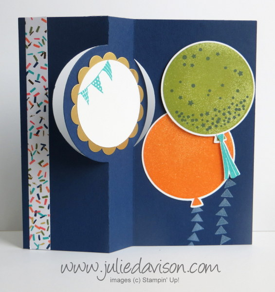 Stampin' Up! Celebrate Today Graduation Circle Flip Card + Video Tutorial #stampinup www.juliedavison.com