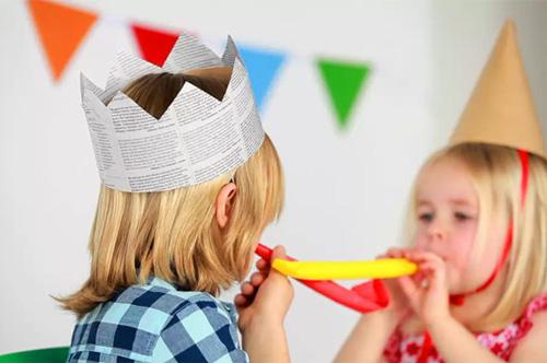 gorros de papel para cumpleaños