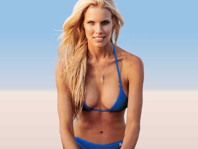 Beth Ostrosky Stern sexy in blue swimsuit