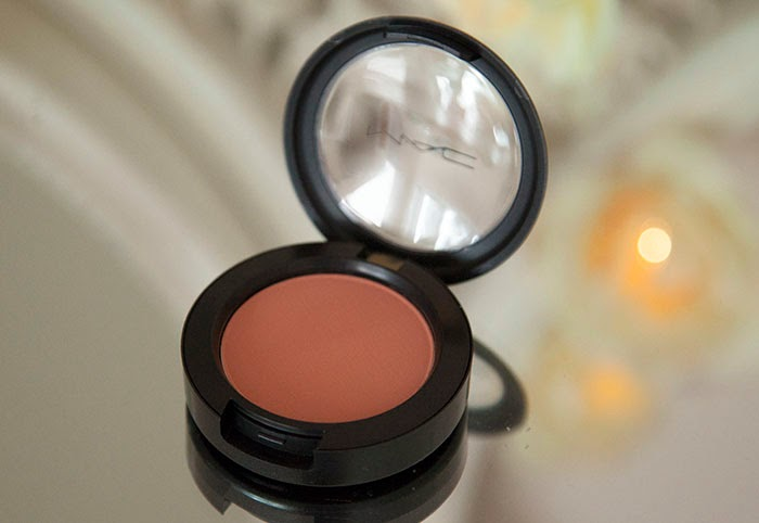 MAC Melba Blusher Review Swatch Peach Warm Glow