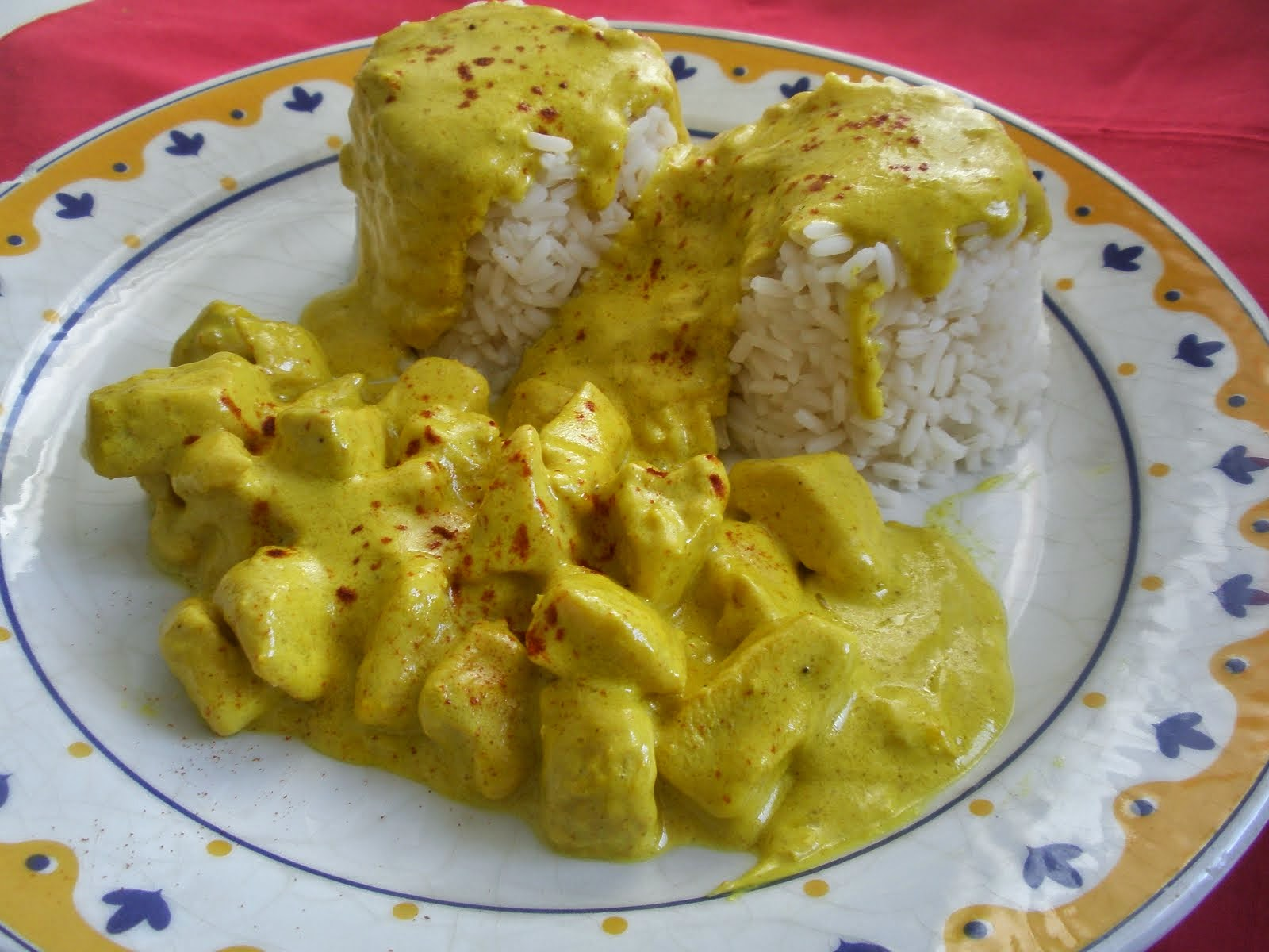 POLLO A LA CREMA DE CURRY