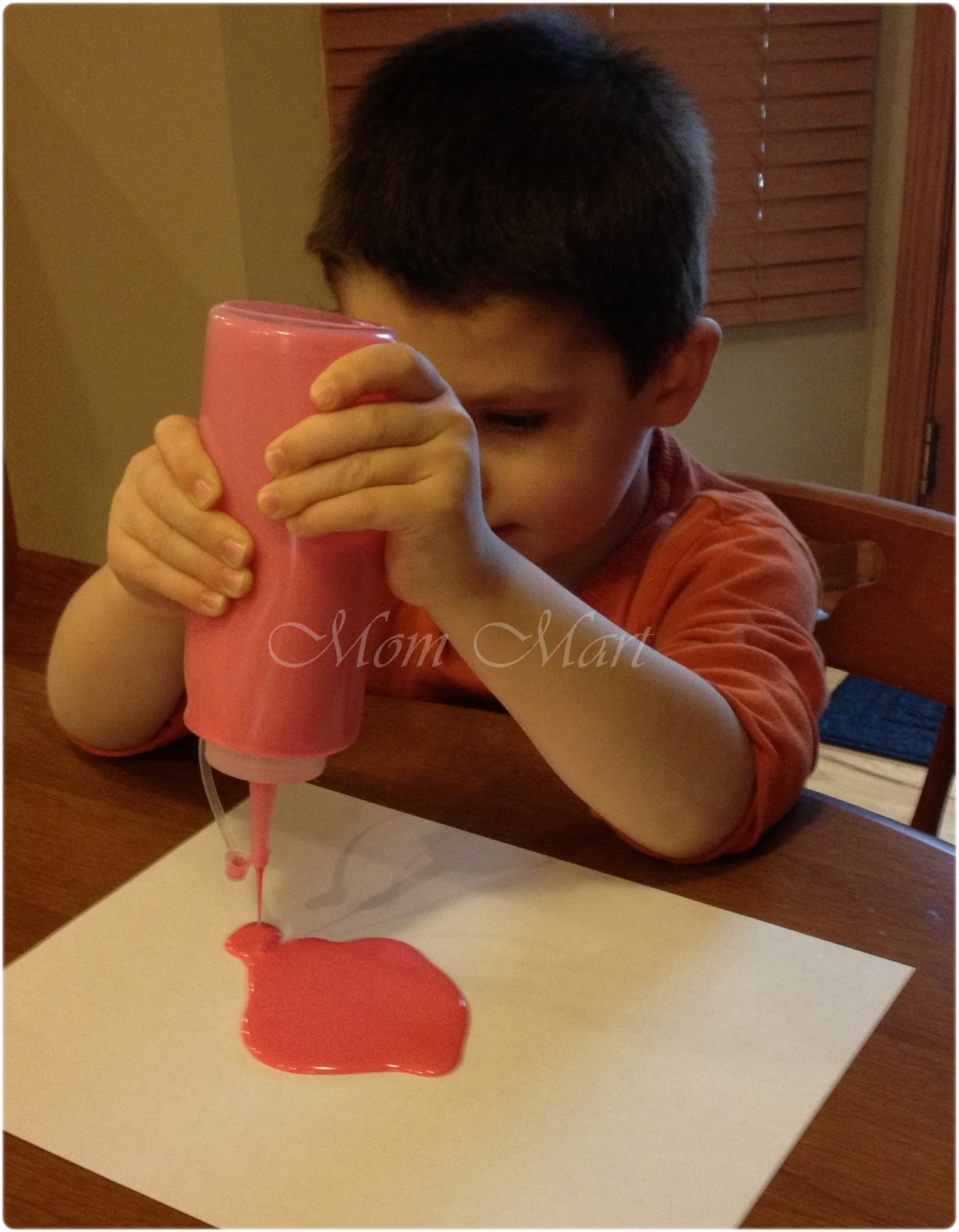 how to make puffy paint with flour and salt