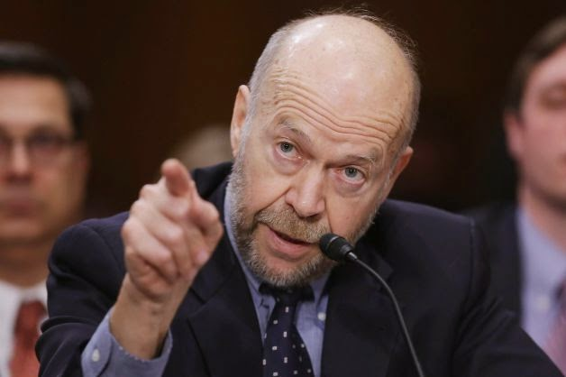 Former NASA climate scientist James Hansen testifies before the Senate Foreign Relations Committee during a hearing about the proposed Keystone XL pipeline. (Credit: Chip Somodevilla, Getty Images) Click to enlarge.
