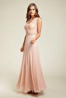 Rochie de seara, delicata, de culoare roze, marca Dynasty ( )