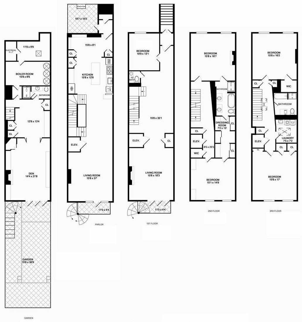long and narrow bathroom floor plans