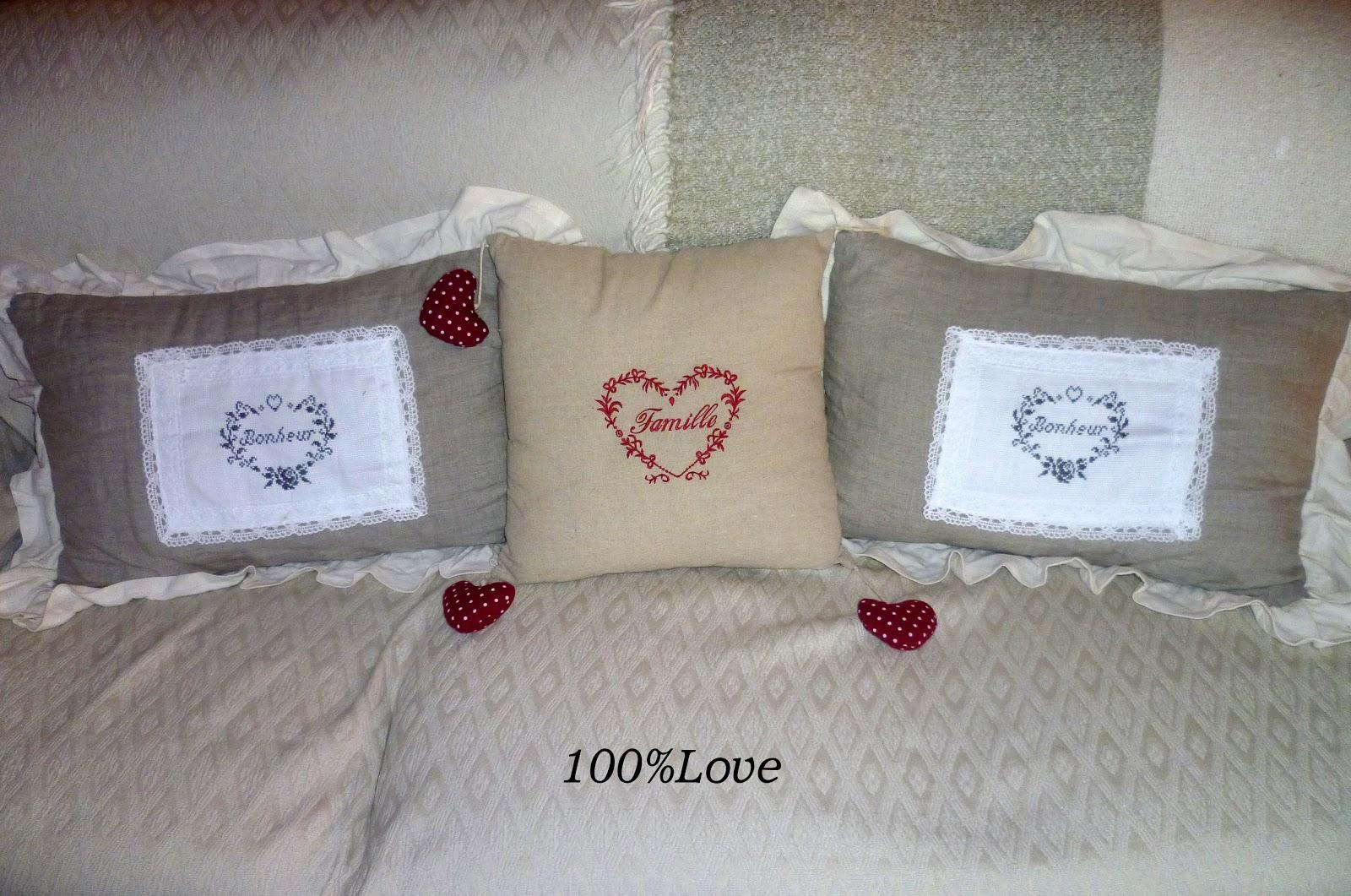 100%LOVE: Cuscini per il divano