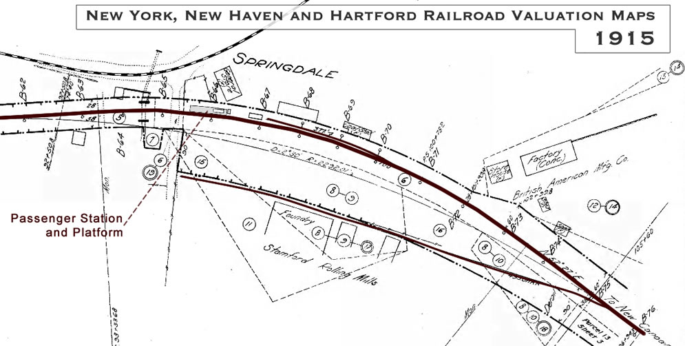 Springdale Historical Railroad Map