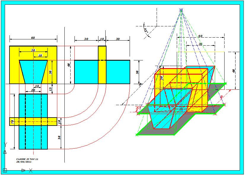 Disegno: Intersezione parallelepipedo e prisma