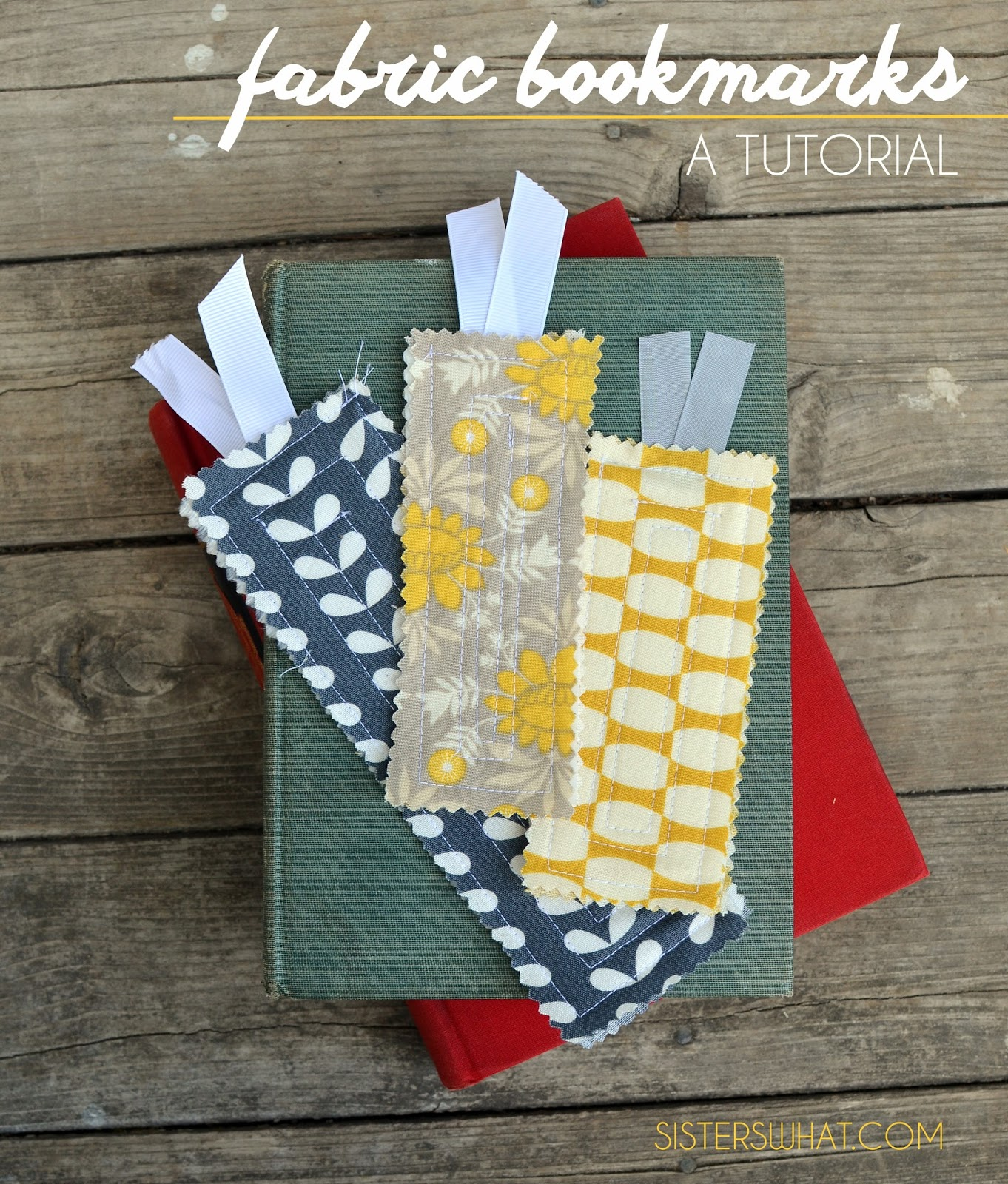 make fabric bookmarks using fabric scraps