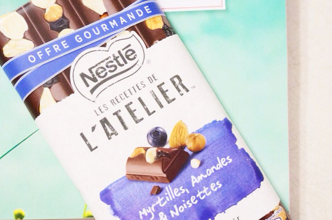 Tablette de chocolat Nestlé des recettes de l'Atelier
