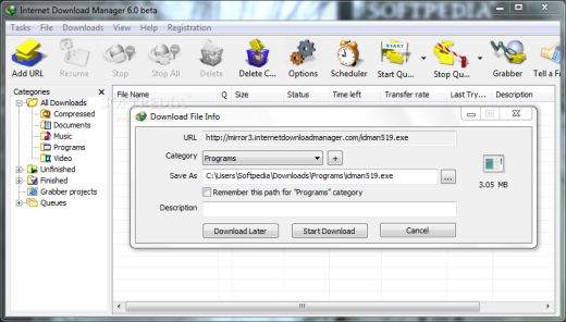 Auto resume supported download manager free