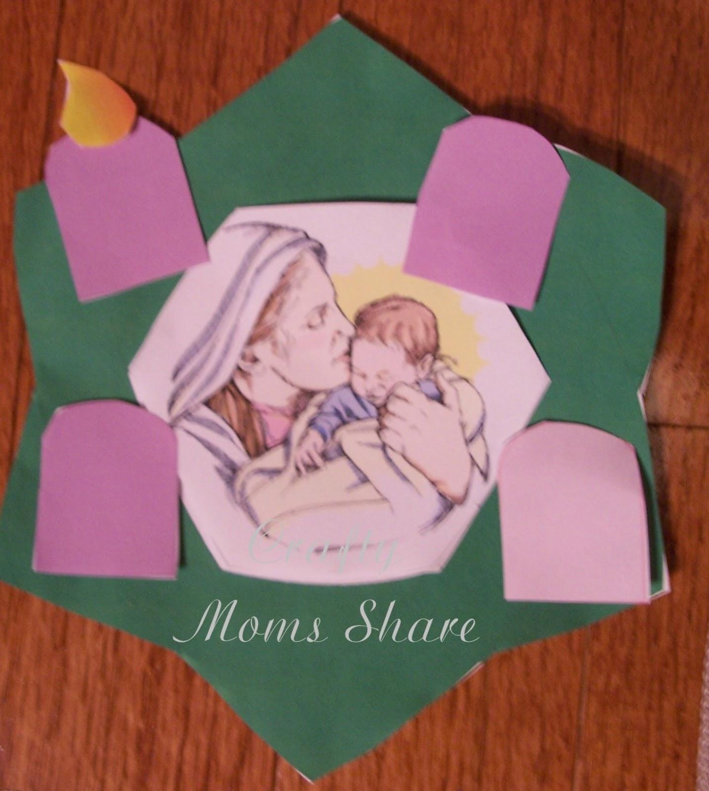 Catholic Advent Wreath Craft Advent wreath craft in two
