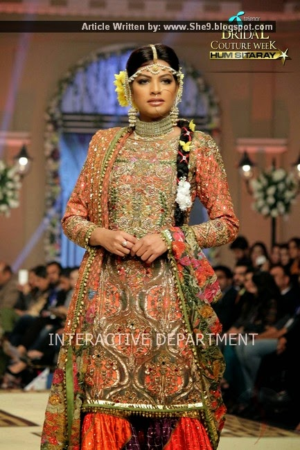 Fahad Hussayn Bridal Collection at TBCW-2014