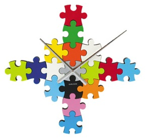 DIY jigsaw puzzle clock