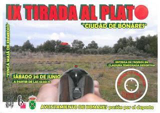 "IX TIRADA AL PLATO ""CIUDAD DE BONARES"""