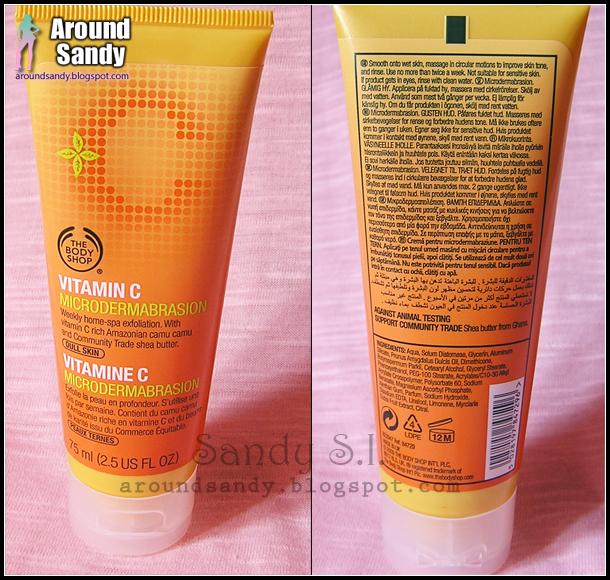 The Body Shop Vitamin C microdermabrasion clon kiehl's
