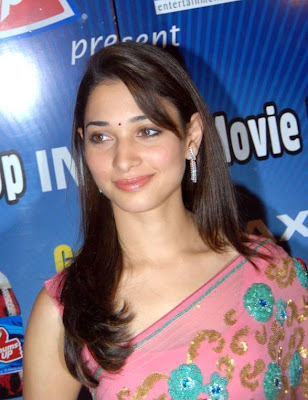 Actress Tamanna in Pink Saree Photos