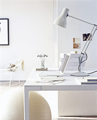 perfectly white office