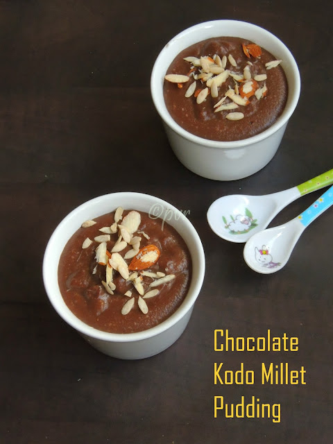 Kodomillet Chocolate Pudding,Pudding with chocolate & varagu arisi