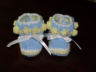 Blue and Yellow Baby Bootie