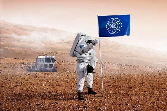 Manusia yang Mendarat di Mars bakal Membawa Bendera Internasional Bumi