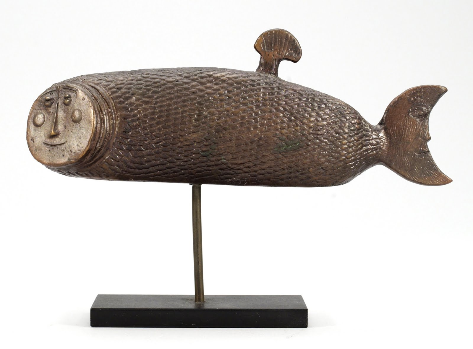Mid centuria art design and decor from the mid century for Ceramic fish sculpture