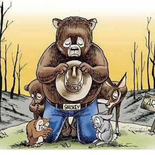 Smokey says 'Fire danger is year round now'...