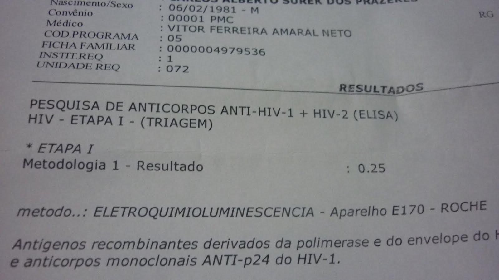 Exame sangue hiv