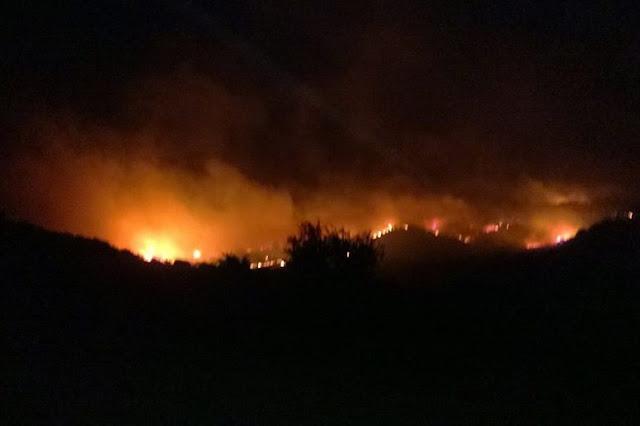 Πυρκαγιά στη Σαμοθράκη