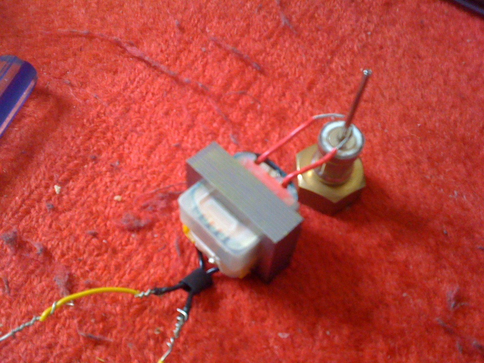 Thorpnics My Baby Tesla Coil. I Hate The Circuit Since It Looks Messy On Breadboard Soldering My Projectshaha. Tesla. Fly Back Tesla Coil Circuit Diagram At Scoala.co