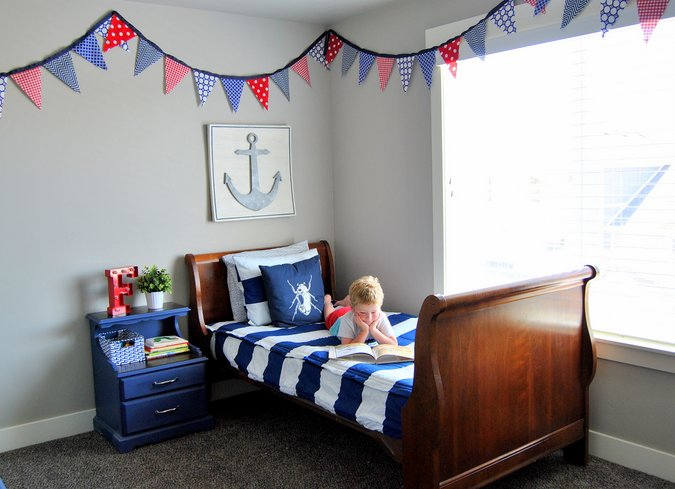 classic, nautical big boy bedroom
