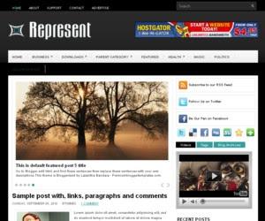 Represent Blogger Template