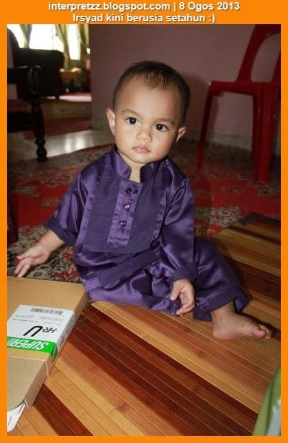 Mohd Irsyad kini berumur setahun
